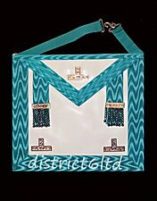 masonic regalia-CRAFT WORSHIPFUL MASTER MASON APRON (WM) LAMBSKIN PLUS OFFERS