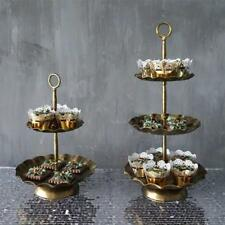 Vintage Metal Cupcake Muffin Stand Wedding Party Display Cake Tower 2 / 3 Tier