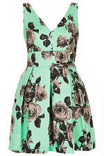 Topshop Stand Out Flower Bow Back Prom Dress Mint Green UK 14 EU 40 US 10 BNWT