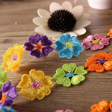 Colorful Flower Lace Trims Multifunction Embroidered Lacework Clothes Applique