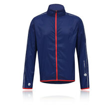Higher State Hombre Azul Marino Mangas Largas Completa Running Deporte Chaqueta