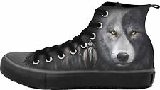 Spiral Wolf Chi, Sneakers - Men'S High Top LaceupYin Yang|Mystical
