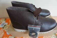Clarks Mens Kilve Desert Dark Brown Leather Boots UK 10.5 / EU 45 RRP £150