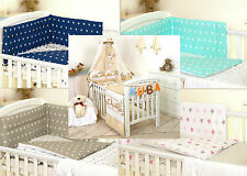 BROWN TEDDY BABY BEDDING SET COT OR COT BED - COVERS BUMPER CANOPY BLANKET+ more