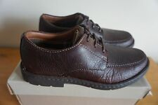 Clarks Mens Stratton Time Brown Leather Casual Shoes UK 6.5 / EU 40 RRP £75