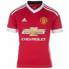 New Junior Boys adidas Manchester United Fc Home Jersey In Red-15/16 Season