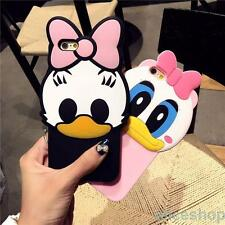 Cute 3D Daisy Donald Duck Soft Silicone Case Cover For iPhone 7 Plus 6 6S 6 Plus