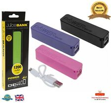 New JUICE BANK PHONE CHARGER Portable Charger Battery Backup 1200MAH Power Bank