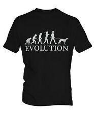 WHIPPET EVOLUTION OF MEN DA UOMO T-SHIRT MAGLIETTA AMANTI DEI CANI WALKER