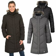 Trespass Sachs Womens Down Jacket Long Hooded Warm Casual Winter Coat