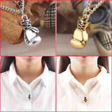 Fashion Men's Women's Stainless Steel Boxing Glove Pendant Necklace Chain BY