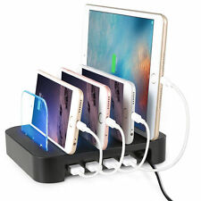 Quick Charge 4USB Ports Multi Charging Dock Station 24W For iPhone 7 iPad Samsun