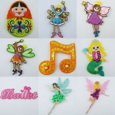 Lovely Girl Theme Motif Iron On Patch Repair Fairy Doll Costume Dress Decoration