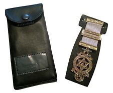 MASONIC REGALIA-HIGH QUALITY MASONIC POCKET JEWEL HOLDER/WALLET/CASE/POUCH NEW
