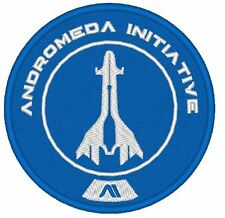 ES0009   GAME  COSPLAY PATCH - MASS EFFECT ANDROMEDA INITIATIVE EMBROIDERED BLUE