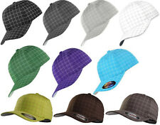 FLEXFIT SQUARELINE CAP A quadri Baseball Piazza Tessuto a righine sottili Plaid