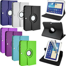 "360 Rotating Custodia In Pelle Per Samsung Galaxy Tab 3 10.1"" P5200 / P5210"