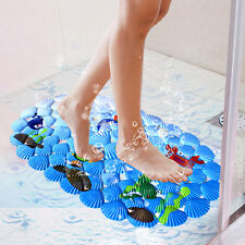PVC Shower Mat Bath Bathroom Floor Anti Non Slip Suction  Shower Room Safety SL