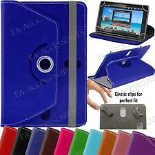7'' Android Windows PC Tablet Universal Leather 360° Rotating Stand Cover Case