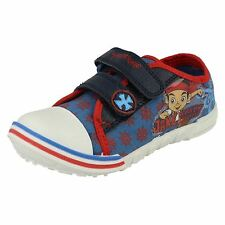 Disney Jake Treasure Infant Boys Blue/Red Canvas Trainers UK Infant 5-10 (R25B)