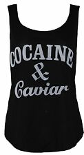 NEW WOMENS COCAINE AND CAVIAR PRINT VEST TOP
