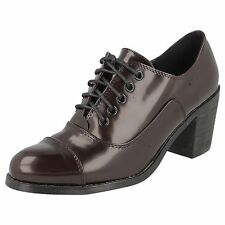 "DA DONNA SPOT ON LUCIDO BORDEAUX SCARPE STRINGATE ""F9751"""