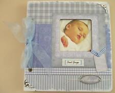 Personalised Handmade Baby Boy Photo Album Christening Birthday Gift