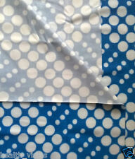 Quick Dry Waterproof Bed Protector Sheet- Blue Dots