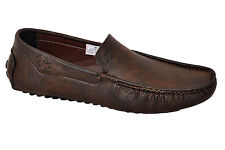 LEE FOX BRAND MENS CASUAL BROWN LOAFERS SLIPONS SHOES - 605 size 11, 12,13