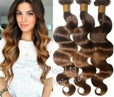REAL 100% BRAZILIAN/PERUVIAN Virgin Human Remy Natural Weft Hair Extensions