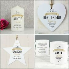 Personalised Gifts, I Am Glad, Friend, Family, Birthday, Christmas