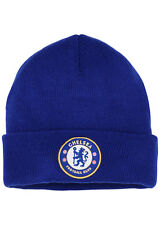 Official Chelsea FC Beanie. Adults Blue Winter Beanie. Football Merchandise
