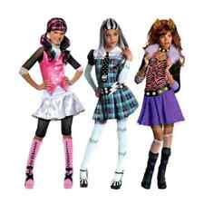 Girls Official Halloween Doll Monster High Outfit Fancy Dress Costume