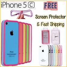 iPhone 5C Bumper Case (Frame Only) FREE Screen Protector and Fast Shipping