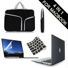 Black Hard Case+Keyboard/LCD Cover+Carry Bag for Macbook Pro/Air 11 13 15""