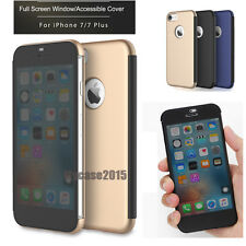 Rock Thin Transparent Full Window Smart View Flip Cover Case For iPhone 7 7