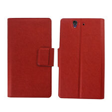 6 Colors For Sony XPERIA Z L36h PU Flip Card Wallet Leather Case Stand Cove