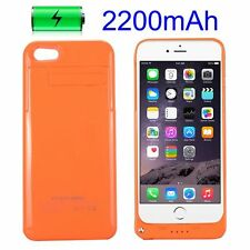 2200mAh Rechargeable External Power Hard Case for iPhone 5/5S with Kickstan