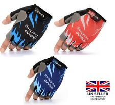 Cycling gloves Fingerless Half Finger Gloves Bike Riding Mitts Gym