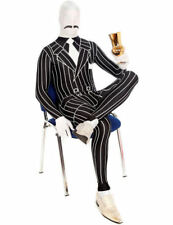 Adult Unisex Halloween 1920s 20s Gangster Stag Fancy Dress Costume Morphsuit