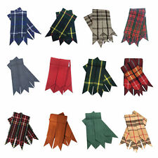 Men's Kilt Hose Sock Flashes Various Scottish Tartans Garter Pointed Highland