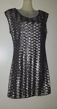 SUITEBLANCO ROBE A PAILLETTE SEQUINS METALLIQUE ARGENTE
