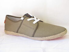 "HERREN BASE LONDON LEINENSCHUHE ""KHAKI TONA"" ""SPAM"""