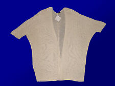 Giacca Donna GOLF CARDIGAN GIACCA SCIALLE BEIGE TGL 38-48 NUOVO