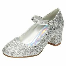 filles SPOT ON SILVER GLITTER Chaussures h3r057