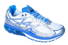 COLUMBUS BRAND MENS WHITE BLUE ORBIT CASUAL LACE SPORTS SHOES