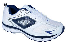 COLUMBUS BRAND MENS ROCKSTAR WHITE BLUE CASUAL LACE SPORTS SHOES
