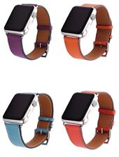 Luxury Coloured Leather Buckle Watch Band for Apple Watch iWatch 42/38mm strap