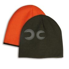 CAPPELLINO DOUBLE FACE IN ACRILICO DOPPIO STRATO INTERNO ARANCIONE IDEA REGALO