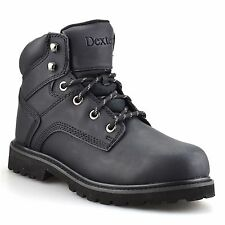 Mens New Leather Safety Steel Toe Cap Work Hiking Ankle Boots Trainers Shoe Size
